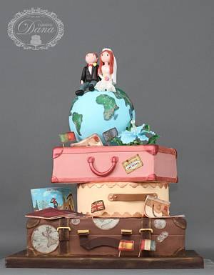 Travel wedding cake - Cake by Cofetaria Dana