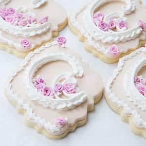 Royal Icing Lambeth Wedding Cookies - Cake by Bobbie