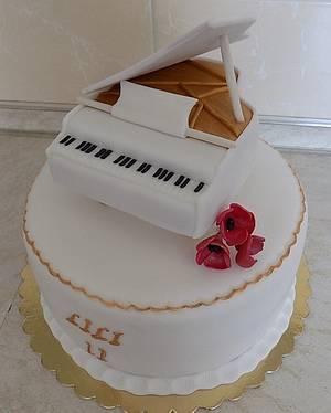Piano - Cake by cicapetra