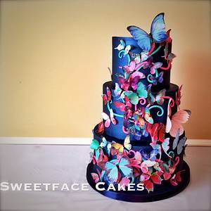 Butterfly Cake for Annabel - Cake by Renay Zamora