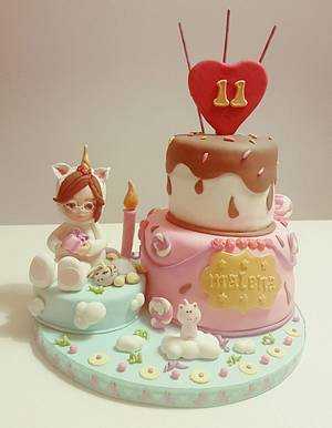 Unicorn Fantasy Cake/ Tarta Unicornio de Fantasía - Cake by Happy Bird-Day BCN