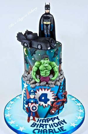 Superhero overload - Cake by Ellie @ Ellie's Elegant Cakery