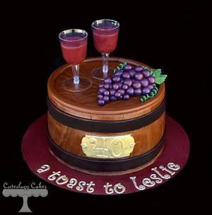 Wine Barrel Cake  - Cake by Cuteology Cakes