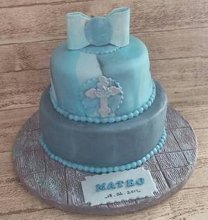"""Baptism Cake for Mateo - Cake by June (""""Clarky's Cakes"""")"""