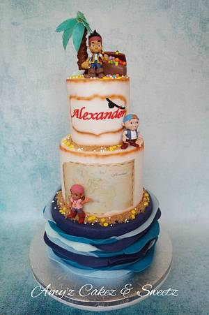 Jake and the Neverland Pirates  - Cake by Amy'z Cakez & Sweetz