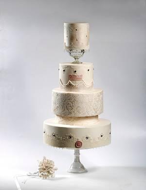 M&G Wedding Cake - Cake by Le RoRo Cakes