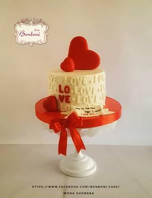 Love - Cake by mona ghobara/Bonboni Cake