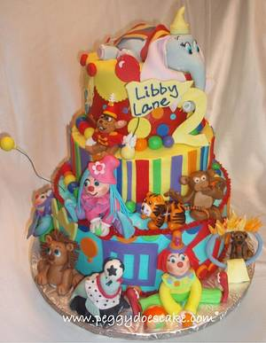 Libby Lane's Circus Cake - Cake by Peggy Does Cake