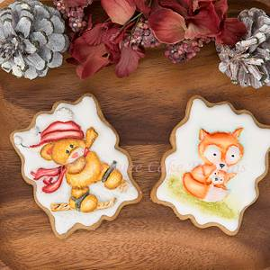 Festive Animal Cookies 🐻🦊👶 - Cake by Bobbie