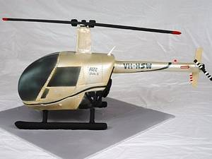 3D Sculpted Helicopter - Cake by Kristy How