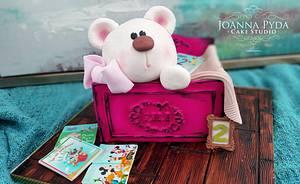 Teddy in a Toy Box - Cake by Joanna Pyda Cake Studio