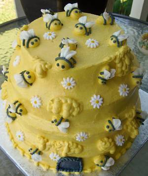 Bee Hive buttercream cake. - Cake by Nancys Fancys Cakes & Catering (Nancy Goolsby)