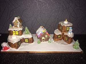 christmas viallage - Cake by Witty Cakes