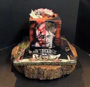 Baking Dead Daryl/Meryl Dixon Walking Dead Collaboration cake - Cake by Sheri Hicks