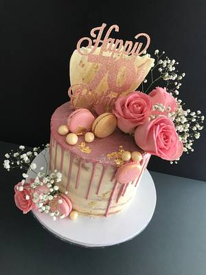 Naked drip cake - Cake by Penny Sue