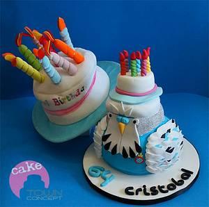 Parakeet cake - Espanyol RCD football club - Cake by Caketown
