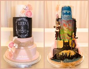 Two Sided Wedding Cake - Cake by Art Bakin'