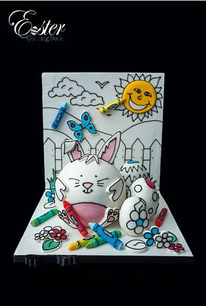 Easter colouring book cake collaboration  - Cake by The hobby baker
