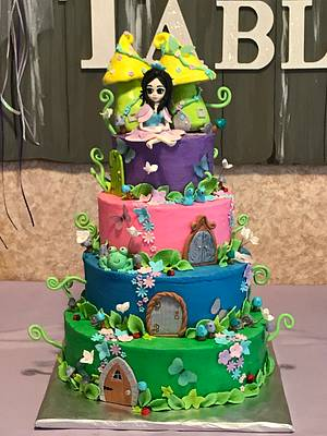 Enchanted Forest cake - Cake by Ingrid's Cupcakes & Confections