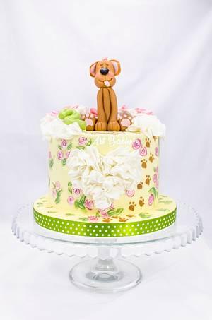 Bday doggy cake - Cake by Art Bakin'