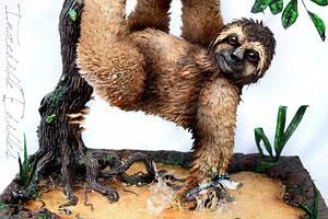 Shredded Wheat Swamp Sloth  - Cake by Vicki's Incredible Edibles