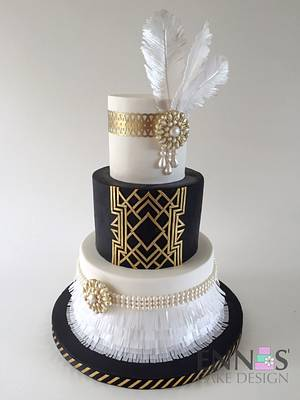 Great Gatsby - Cake by Irina - Ennas' Cake Design