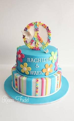 Peace - Cake by ReemFadelCakes