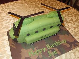 Army Chinnock Helicopter Cake - Cake by Ellie1985