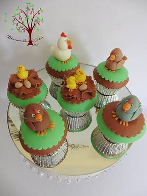 Chicken cupcakes - Cake by Blossom Dream Cakes - Angela Morris