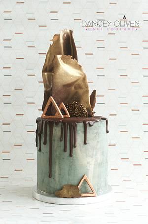 Concrete Love - Cake by Sugar Street Studios by Zoe Burmester