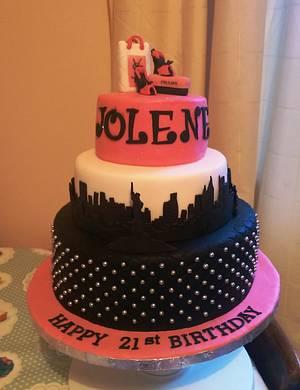 A New York 21st Birthday Cake - Cake by MySugarFairyCakes