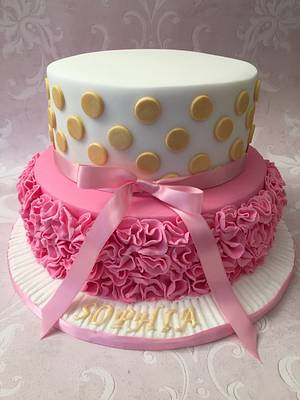 Pretty cake for a pretty 1 year old  - Cake by Roberta