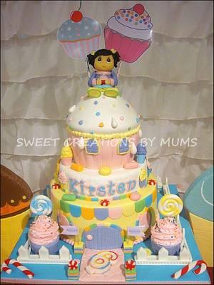 Cupcakeland Themed Cake /Dessert Buffet  - Cake by Jo-ann M. Tuazon