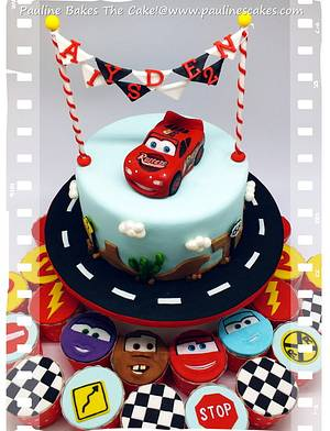 """""""Cars"""" Lightning McQueen! - Cake by Pauline Soo (Polly) - Pauline Bakes The Cake!"""
