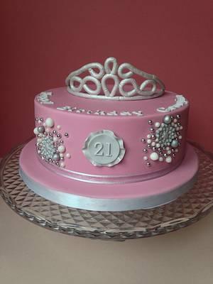 Sparkly Tiara 21st cake - Cake by Sally Jane Cake Design