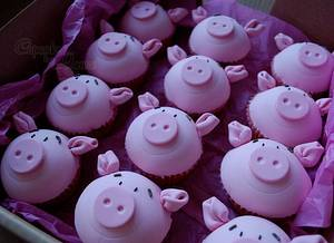 Percy Pig cupcakes - Cake by CupcakesbyLouise