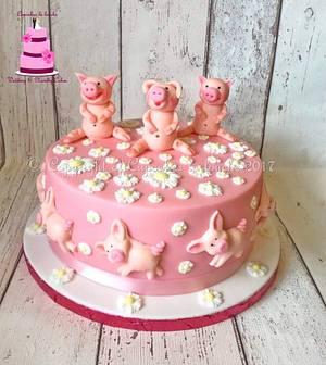 Piggy cake - Cake by Cupcakes la louche wedding & novelty cakes