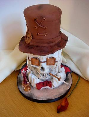 Steampunk Vampire Tramp - Cake by Fifi's Cakes