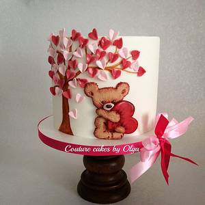 ,,Teddy in love,, cake - Cake by Couture cakes by Olga