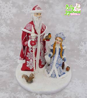 Christmas in Belarus - Christmas Around the World Collaboration - Cake by Bety'Sugarland by Elisabete Caseiro