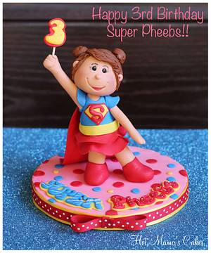 Super Pheebs is 3! - Cake by Hot Mama's Cakes