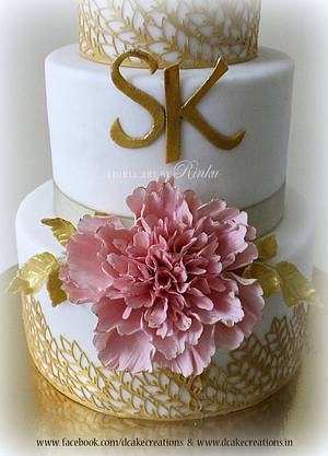 Frill Peony Wedding Cake - Cake by D Cake Creations®
