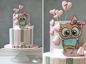 Little cute owl - Cake by Lorna