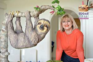 Hanging Sloth Cake! - Cake by Sugar Street Studios by Zoe Burmester