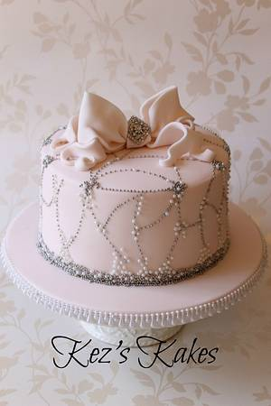 Pretty in Palest Pink - Cake by Kerry Rowe