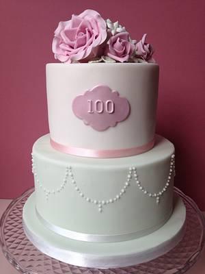 100th birthday cake - Cake by Sally Jane Cake Design