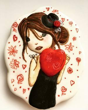 Valentine's cookie - Cake by Patricia El Murr