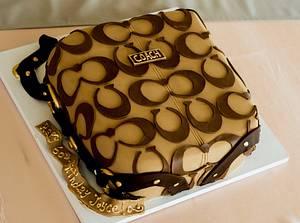 Coach purse  - Cake by Piece O'Cake