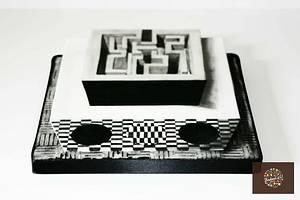 Crazy Maze - optical illusion - Cake by Baked4U