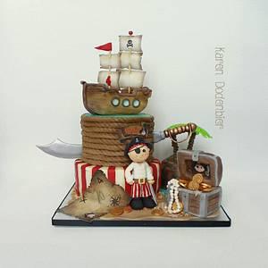 Cute Pirate cake - Cake by Karen Dodenbier